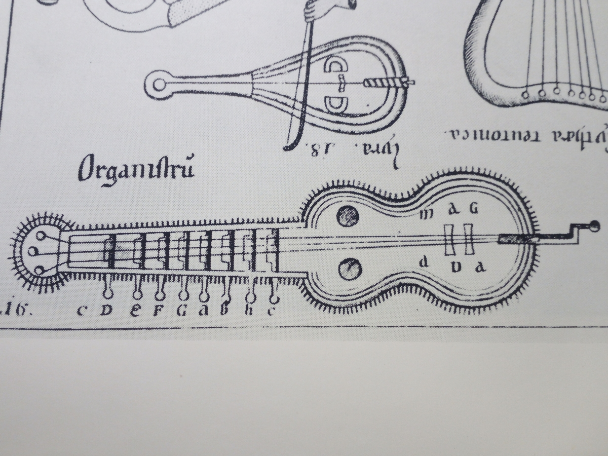 "ORGANISTRUM. The ""magic word"" in M.Gerbert's drawing"